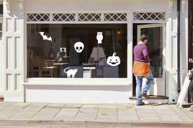 Décoration halloween pour fenêtre. Variance Auto