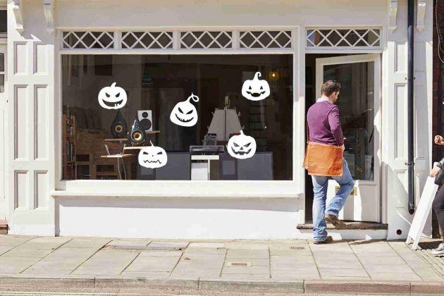 Stickers citrouilles halloween pour vitre. Variance Auto