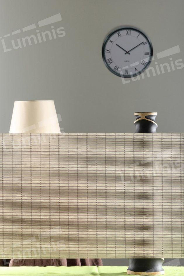 Film électrostatique effet canisses beiges. Luminis Films