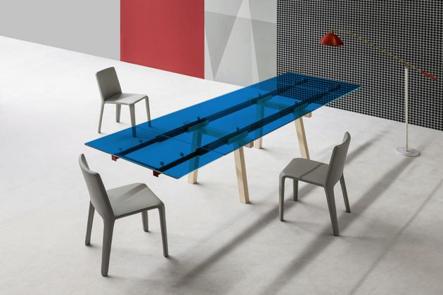 Film couleur transparent bleu moyen
