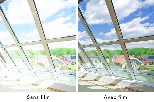 Film solaire repositionnable réfléchissant