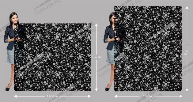 Film décoratif à motif floral noir