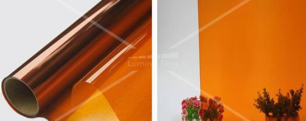 Film couleur transparent orange