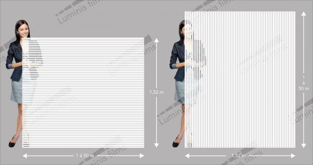 Film décoratif à bandes blanches. Luminis-Films