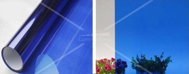 Film couleur transparent bleu moyen. Luminis-Films