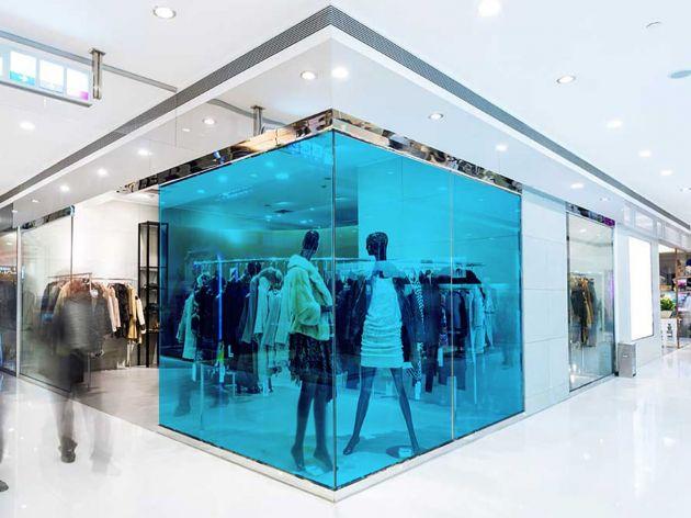 Film couleur bleu acier transparent pose extérieure. Luminis Films