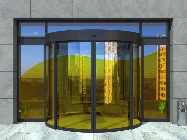 Film couleur jaune clair transparent pose extérieure. Luminis Films