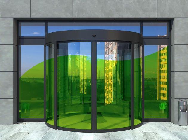 Film couleur vert lichen transparent pose extérieure. Luminis Films