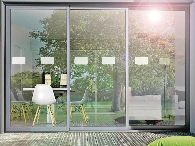 Stickers pour vitre motif briques. Luminis Films