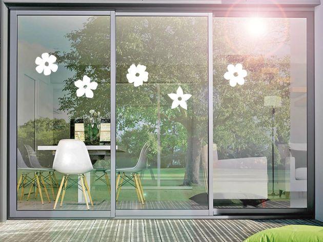 Stickers pour vitre motif fleurs. Luminis Films