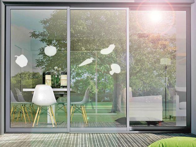 Stickers pour vitre motif légumes. Luminis Films
