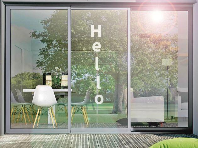 Stickers pour vitre motif Hello. Luminis Films