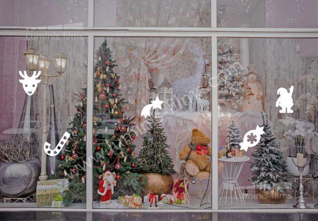 Décoration Noël pour fenêtre. Luminis Films