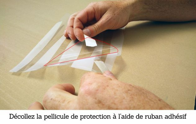 Film électrostatique effet canisses beiges. Luminis-Films