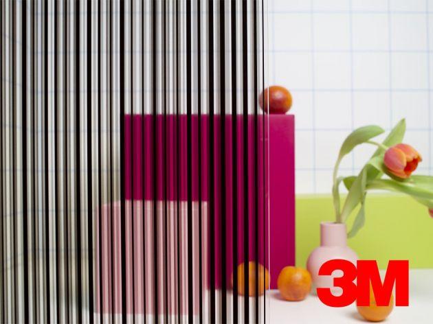 Film décoratif Fasara 3M lignes modernes noires. Luminis Films