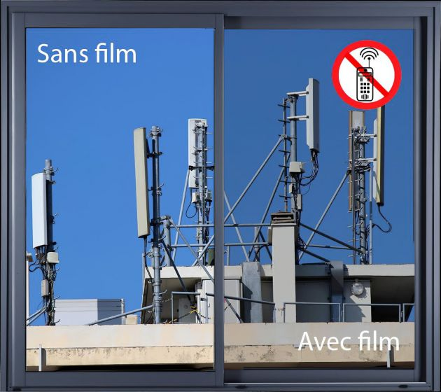 Film anti ondes pour fenêtre. Luminis Films