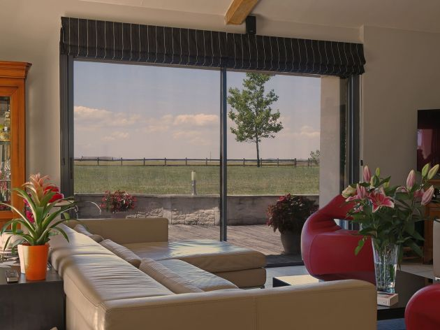 Film de protection solaire métallisé cuivre. Luminis Films