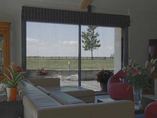 Film de protection solaire métallisé argent foncé. Luminis Films