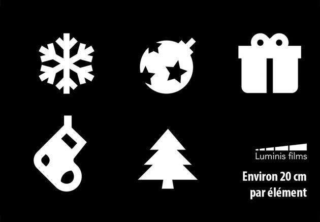 Stickers de Noël pour vitrage. Luminis Films