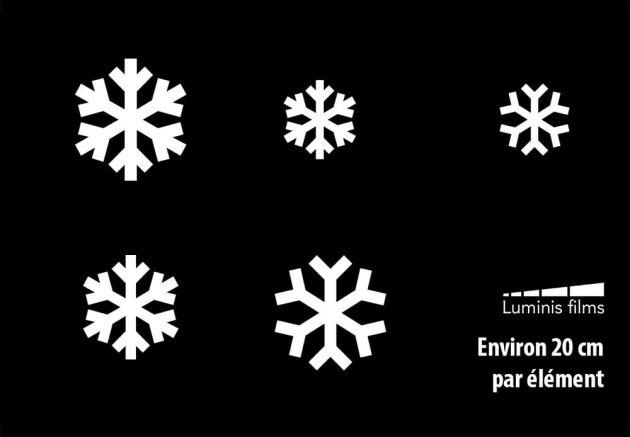 Stickers flocons de neige pour vitre. Luminis-Films