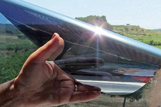 film solaire électrostatique; Luminis-Films.