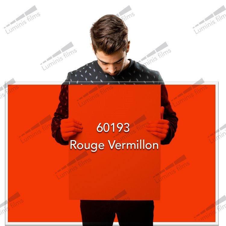 Film décoratif de couleur rouge vermillon - 60193. Luminis-Films