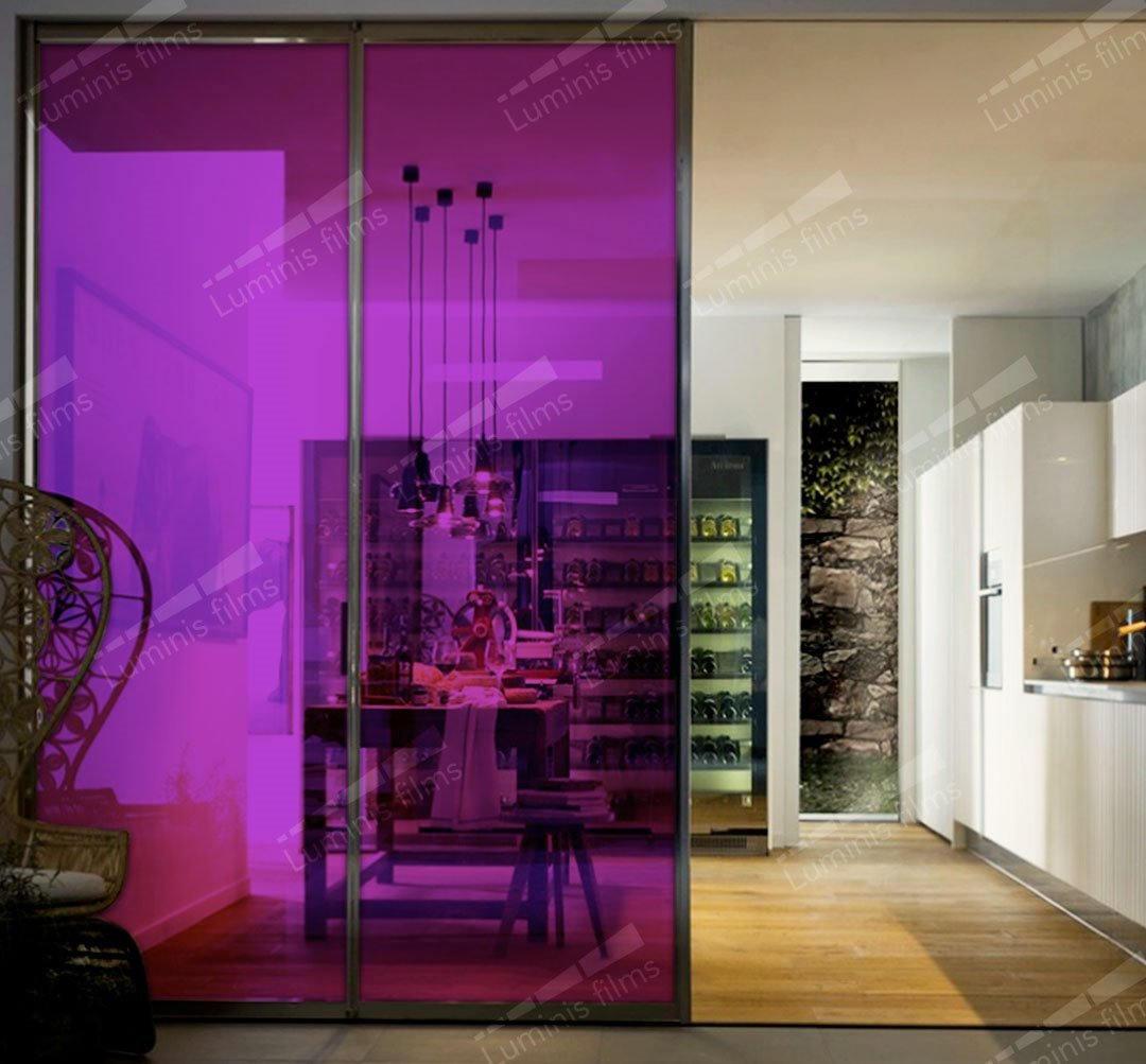 Film décoratif de couleur violet - 60487. Luminis-Films