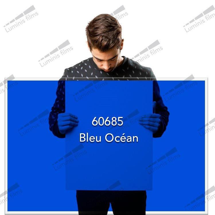 Film décoratif de couleur bleu océan - 60685. Luminis-Films
