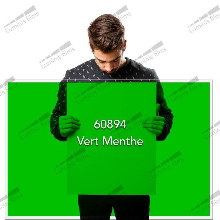 Film décoratif de couleur vert Menthe - 60894. Luminis-Films