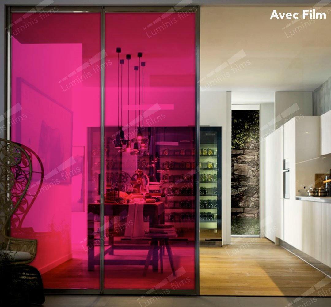 Film décoratif de couleur Framboise - 61133. Luminis-Films