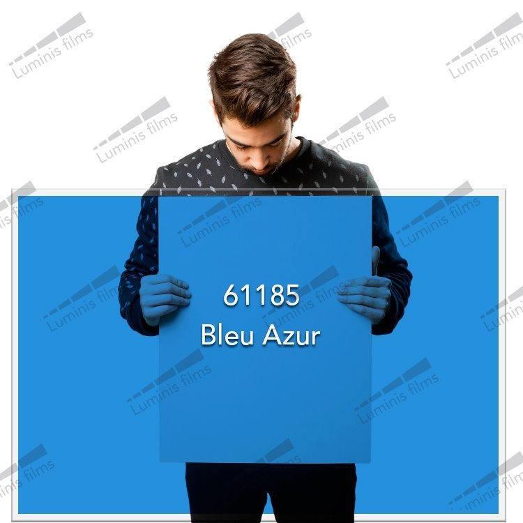 Film décoratif de couleur bleu azur - 61185. Luminis-Films