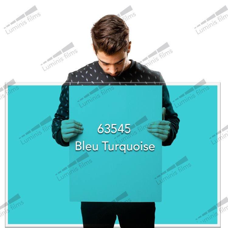Film décoratif de couleur bleu turquoise - 63545. Luminis-Films