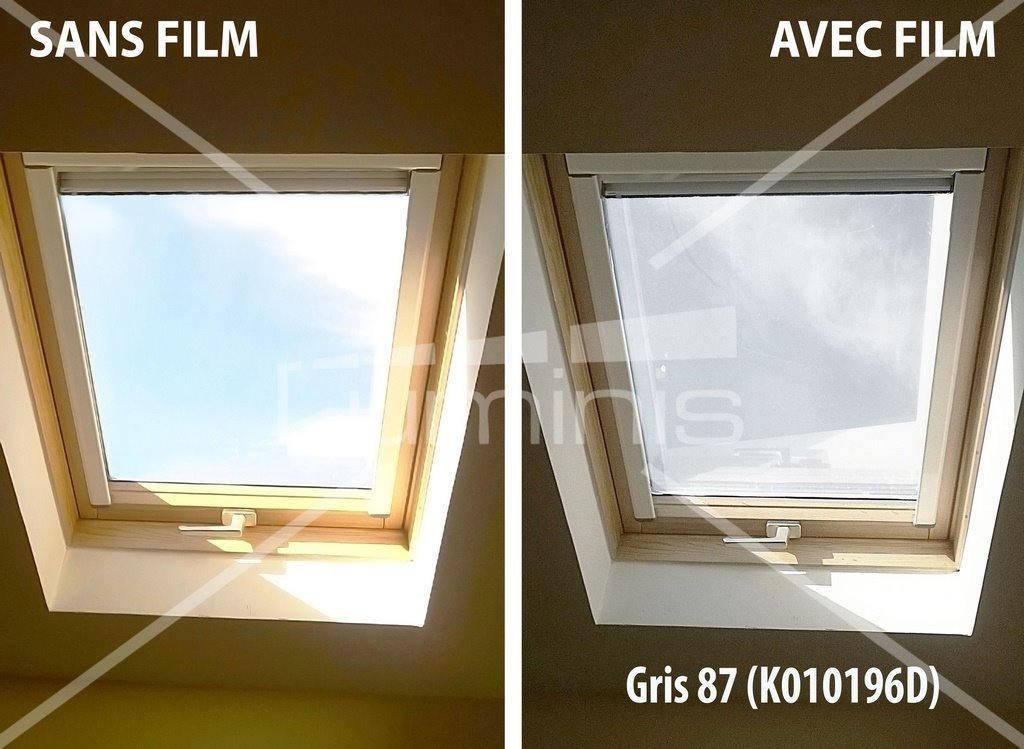 Film repositionnable solaire gris stat 203ix luminis films - Film anti chaleur pour fenetre ...