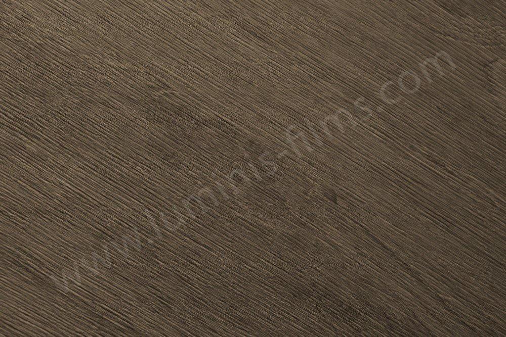 Adhésif imitation bois ébène brun clair. Luminis-Films