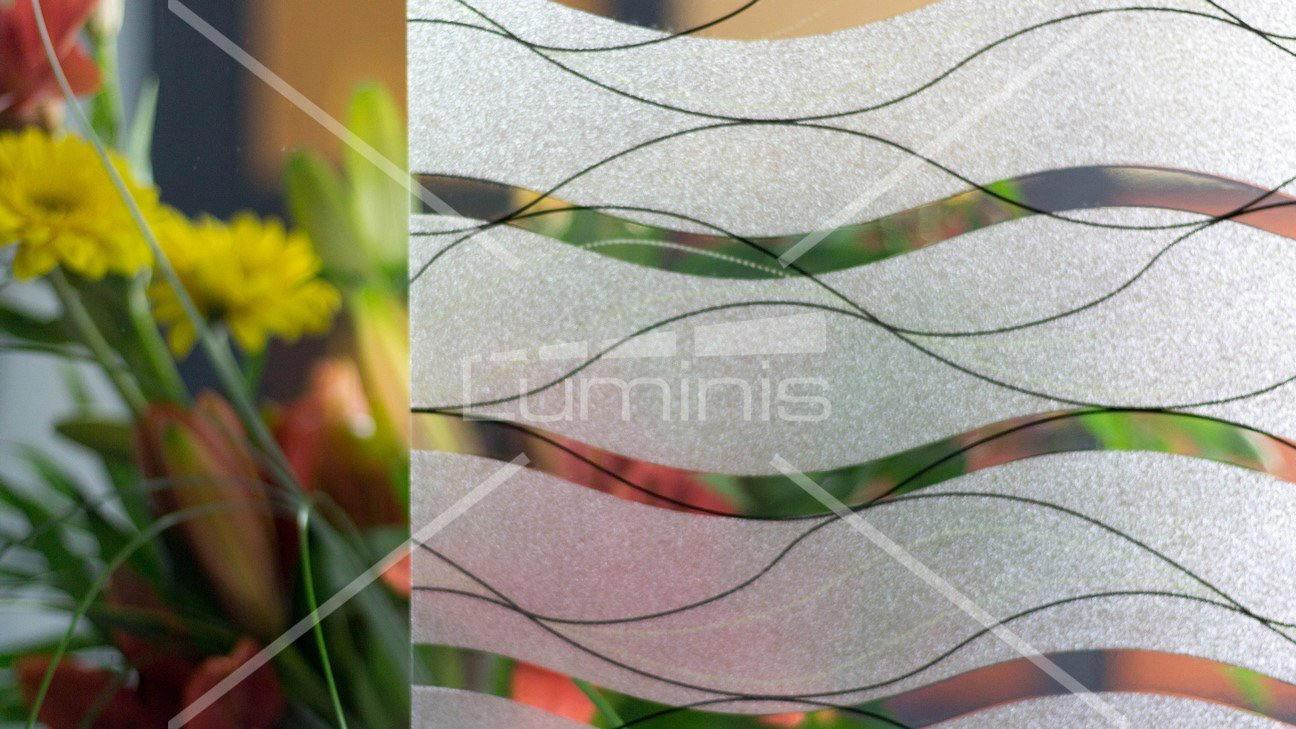 Film repositionnable - Black curve P031. Luminis-Films