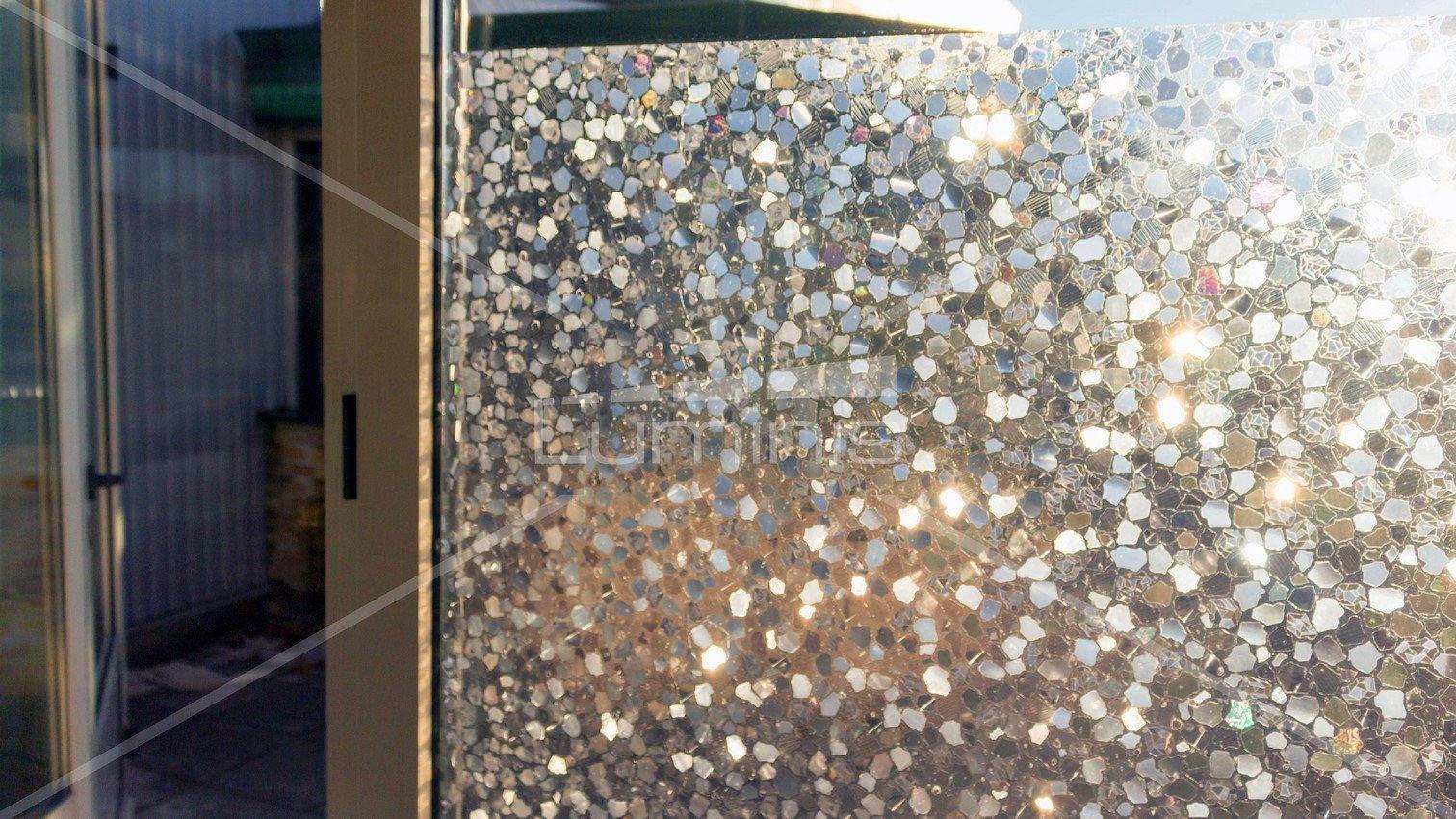 Film électrostatique décoratif à formes irisées. Luminis-Films