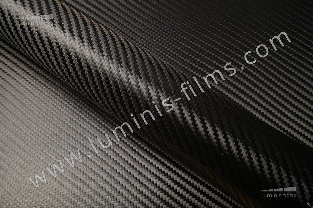 Revêtement décoratif carbone noir 2D. Luminis-Films
