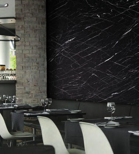Revêtement adhésif marbre noir mat - MARBRE-2832. Luminis-Films