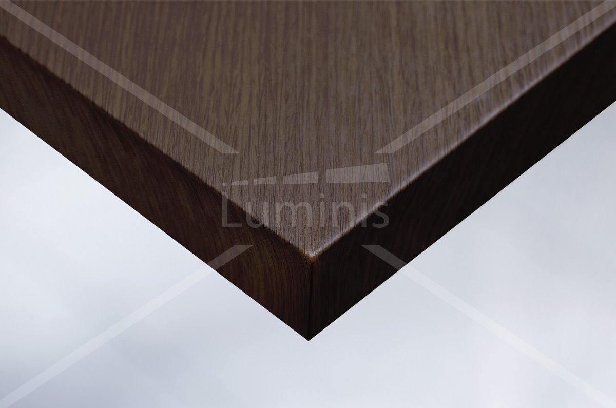 Revêtement adhésif effet bois acajou foncé. Luminis-Films