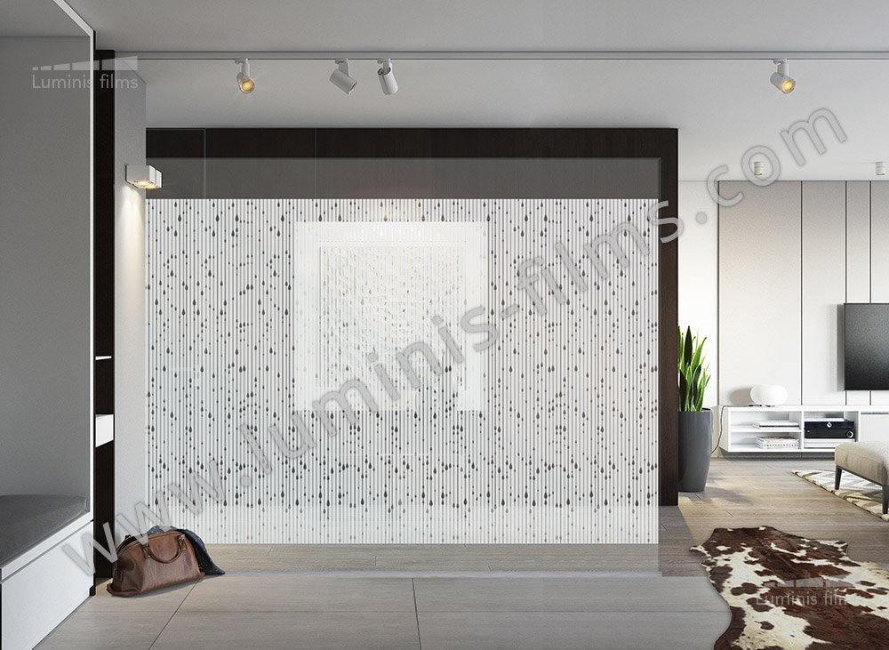 film d coratif d poli gouttes d 39 eau deco 507i luminis films. Black Bedroom Furniture Sets. Home Design Ideas