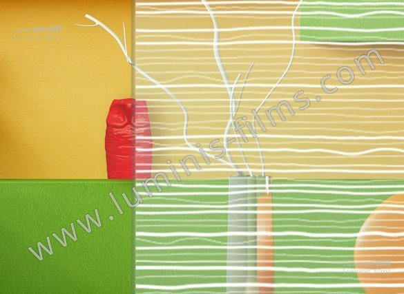 Film décoratif à lignes blanches. Luminis-Films
