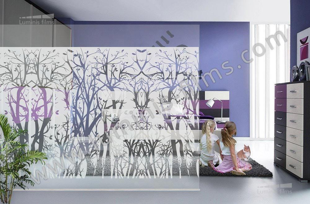 Film d coratif d poli arbres deco 518i luminis films - Film adhesif decoratif pour meuble ...