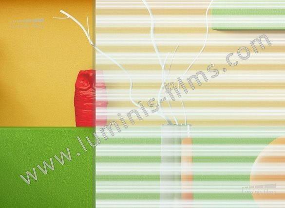 Film décoratif à lignes blanches réparties. Luminis-Films