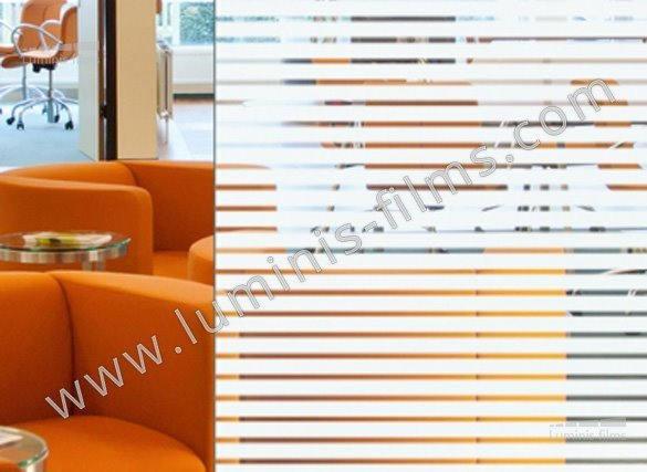 Film décoratif à bandes blanches - DECO-537i. Luminis-Films
