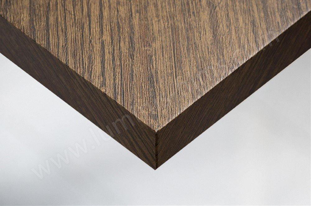 Adhésif imitation bois chêne foncé vieilli. Luminis-Films