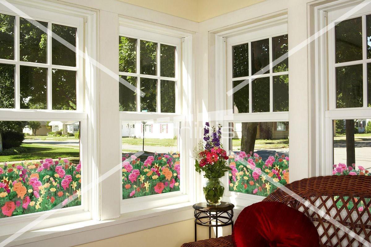 Film à fleurs transparentes de Roses - FLR 191. Luminis-Films