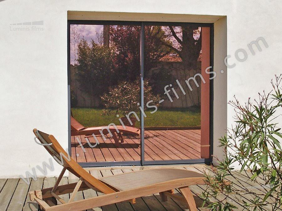 film anti chaleur m tallis cuivre glass 110i le rouleau de 0 55 m x 0 80 m luminis films. Black Bedroom Furniture Sets. Home Design Ideas