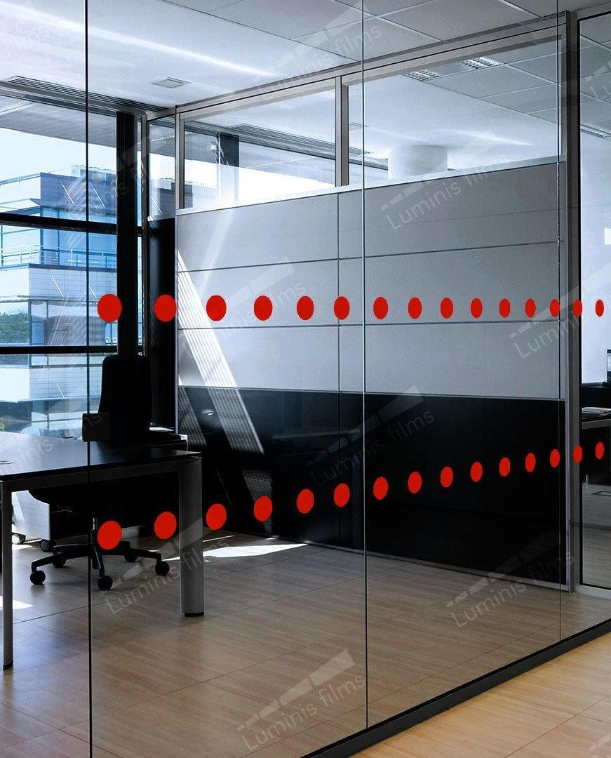 Film de visualisation ronds rouges - VISUEL-1000i. Luminis-Films