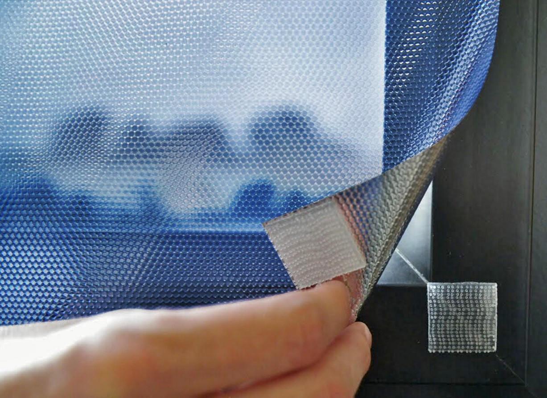 Film repositionnable bleu anti chaleur à scratchs. Luminis-Films