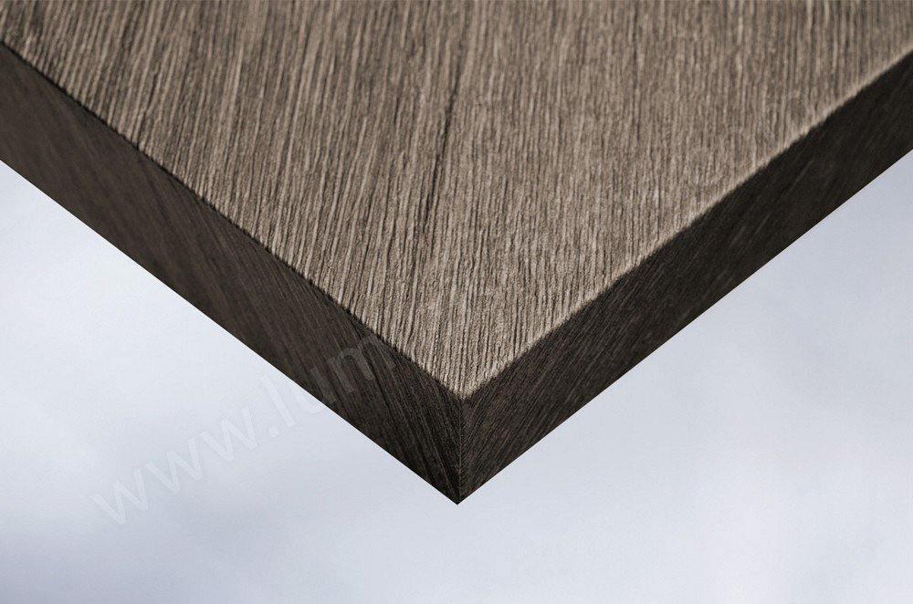 Revêtement décoratif effet bois foncé grisé. Luminis-Films